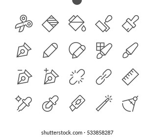 Graphic Design Pixel Perfect Well-crafted Vector Thin Line Icons 48x48 Ready for 24x24 Grid for Web Graphics and Apps with Editable Stroke. Simple Minimal Pictogram Part 2-4