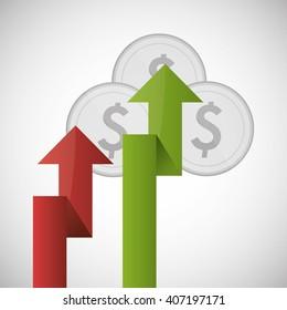 Graphic design of profit , editable vecctor