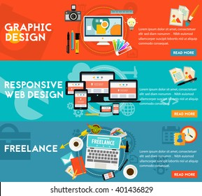 Graphic Design , Responsive Webdesign and Freelance Concept