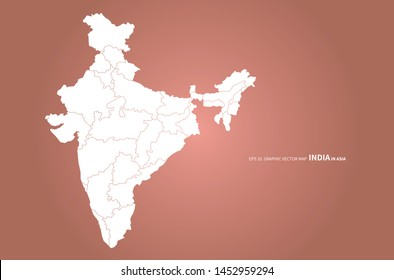 graphic design vector of india map. indian ocean country