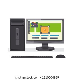 Graphic design and Web development concept