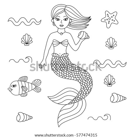 graphic doodle black white line drawing stock vector royalty free