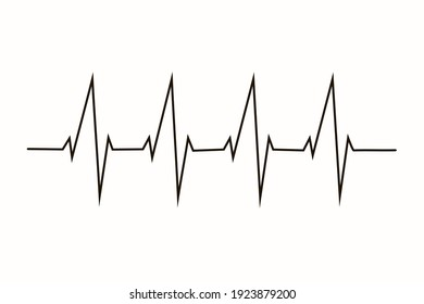 Graphic ecg. Echocardiogram taken of the heart. Heart beat on ecg. Heartbeat make a heart.