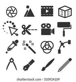 graphic edition icon set