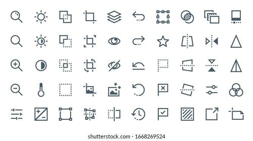 Graphic Editor icon set vol. 1, 32px optimized