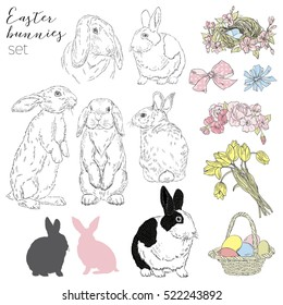 graphic elements collection for Happy Easter design