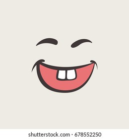 Graphic Emoticon. Collection of Emoji. Smile icons. Isolated vector illustration on white background