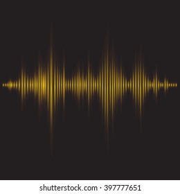 graphic equalizer - sound waves vector abstract - background for different joyful events. Vector illustration eps 10 can be used, music layout page, cover magazine template, yellow on black