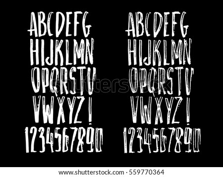 Graphic Font Your Design Hand Drawn Stock Vector (Royalty Free