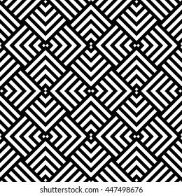Graphic geometric pattern, black and white