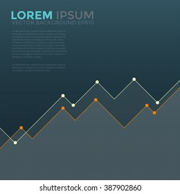 Graphic graph information vector background with space for text design