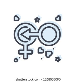 Graphic icon for coitus