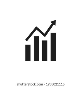 Graphic icon vector. Simple growth sign