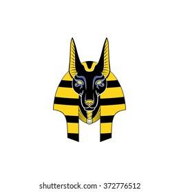 Graphic illustration of Anubis