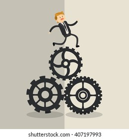Graphic illustration of businesspeople, vector design