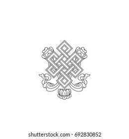 Graphic illustration of endless knot symbol