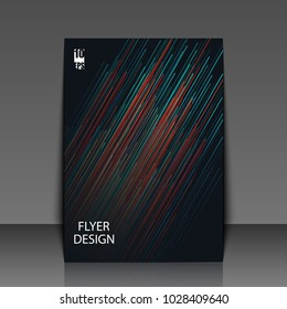 Graphic illustration with geometric pattern. Template flyer with abstract background. Eps10 Vector illustration