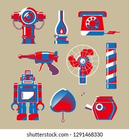Graphic illustration of Hong Kong nostalgic objects