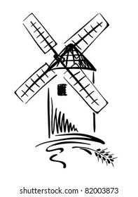 Graphic Illustration - windmill