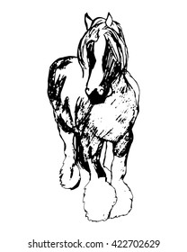 Graphic image of a large horse