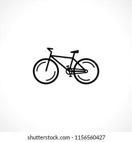 graphic image of mountain bike icon