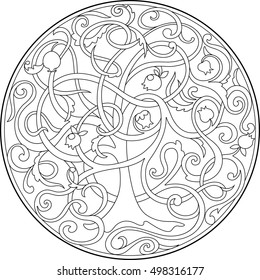 Tree of Life by Gustav Klimt coloring page | Free Printable ... | 280x260