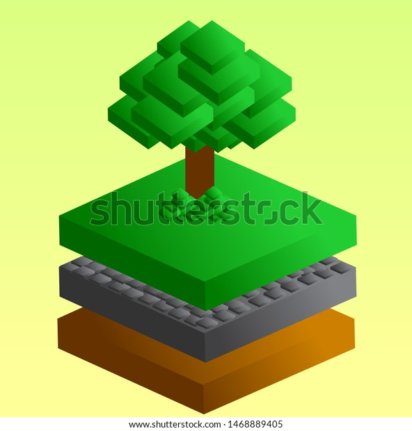 Graphic Info About Trees Soil Layers Nature Objects Stock Image