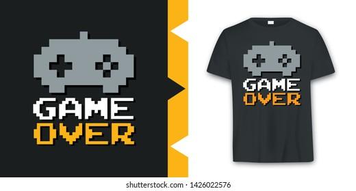 Graphic joypad arcade game T-shirt Design in vector format