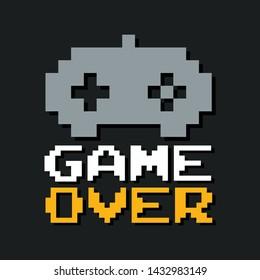 Graphic joypad arcade game in vector format