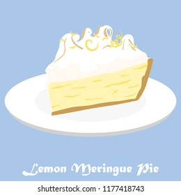 The graphic of a Lemon Meringue Pie with sprinkled lemon skin on top.