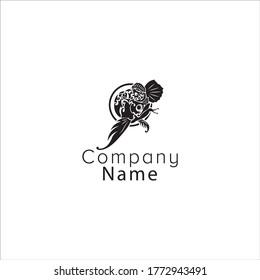 graphic logo of arowana fish ornament vector. It is suitable for arowana fish companies, stickers, etc.