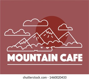 Graphic logo for the cafe
