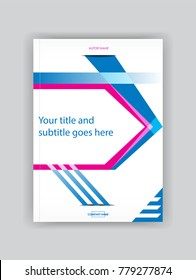 Graphic modern cover design booklet template, book, magazine, flyer, banner, brochure. Place for text for business and financial reports. City background. Vector