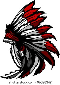 Graphic Native American Indian Chief Headdress