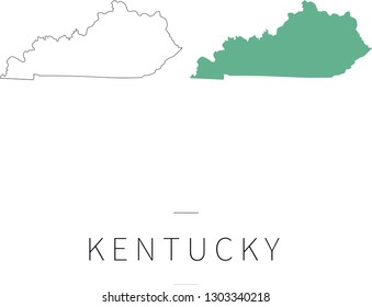 Graphic outline of Kentucky