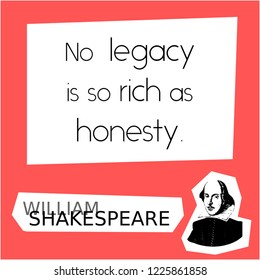 A graphic quote about honesty by William Shakespeare