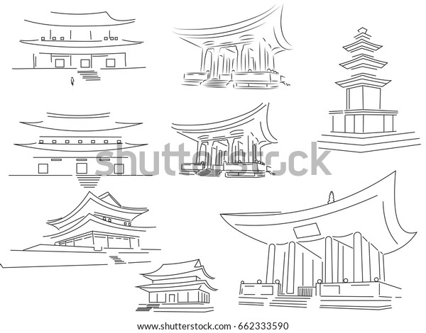 Image Vectorielle De Stock De Representation Graphique Des Temples