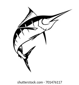 graphic sailfish, vector