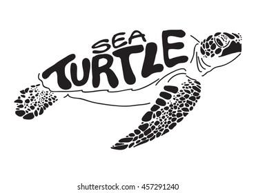 graphic sea turtle