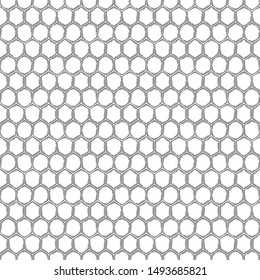 Graphic seamless pattern of honeycomb. Vector repeated  design