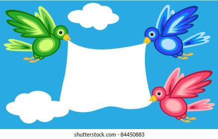 Birds Holding Banner Images Stock Photos Vectors Shutterstock