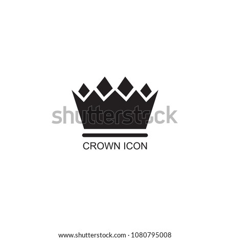 Graphic Simple Form Royal Crown On Stock Vector Royalty Free
