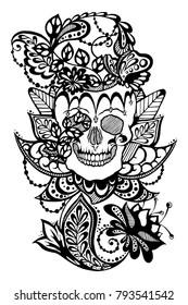 Graphic Skull Art