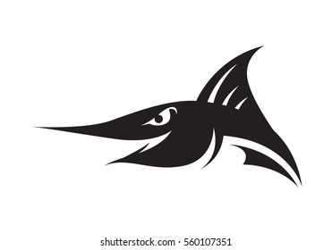graphic spearfish, vector