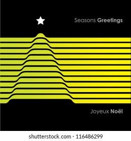 Graphic Stripe Christmas Tree