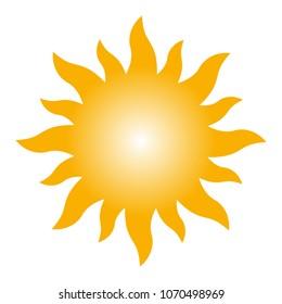 Graphic sun icon vector illustration.