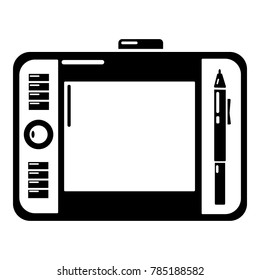 Graphic tablet icon. Simple illustration of graphic tablet vector icon for web