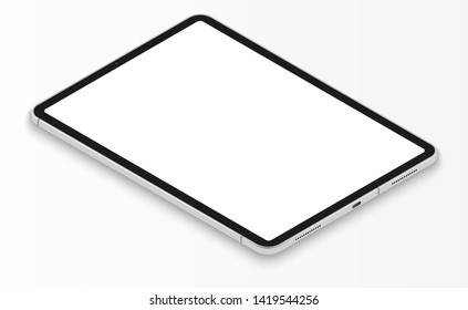 graphic tablet of the new generation with a blank screen on a light background