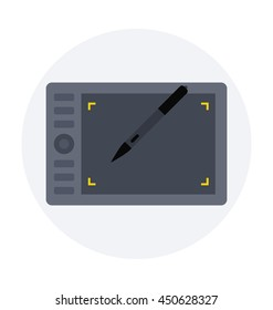 Graphic Tablet Vector Icon