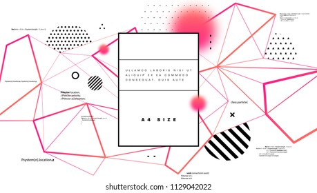 Graphic technology structure with geometric patterns and programming code for abstract cover background. Eps10 vector illustration